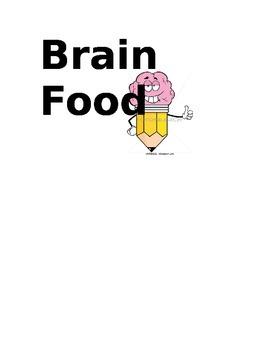 Brain Food Candy label