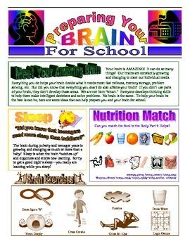 Brain Newsletter - Back to School Healthy Habits