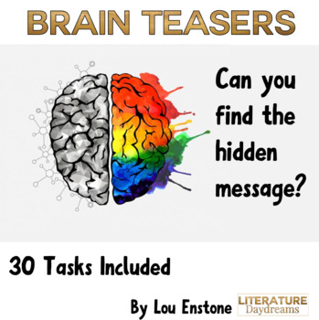 Brain Teasers Bell Ringers Growth Mindset quote - BTS set 2