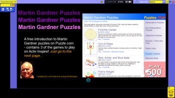 Martin Gardner Interactive Puzzles