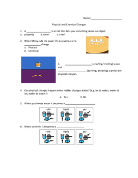 Brainpop Junior Chemical and Physical Changes