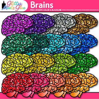 Brain Clip Art {Growth Mindset, Breaks, Teasers, Games, Lo