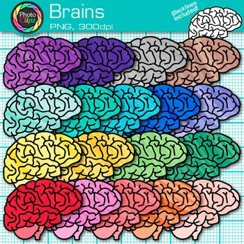 Brain Clip Art {Growth Mindset, Breaks, Teasers, Games, Lo