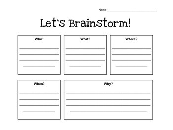 Brainstorming Guide with the 5 W's