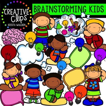 Brainstorming Kids {Creative Clips Digital Clipart}
