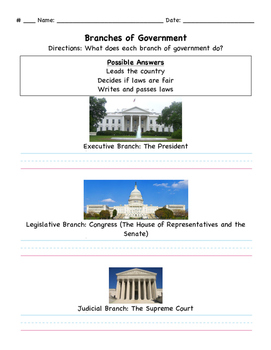Branches of Government Assessment