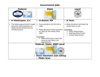 Branches of Government Organizer/Visual