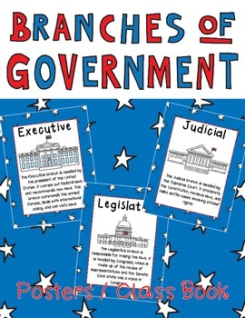 Branches of Government Posters or Book Legislative, Execut