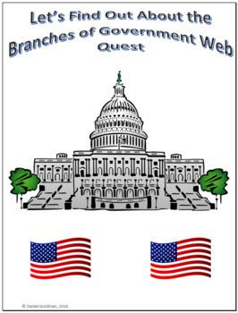 Branches of Government Webquest Scavenger Hunt Common Core