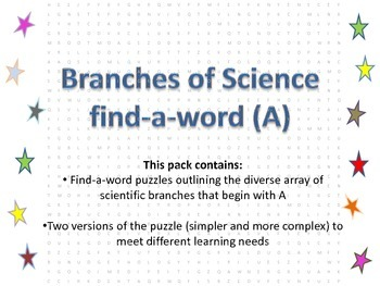 Branches of science starting with A
