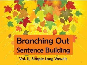 Preprinted/No Prep Branching Out Sentence Building Vol. II