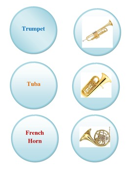 Brass Instrument File Folder Game
