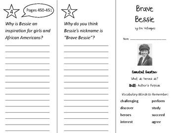 Brave Bessie Trifold - Wonders 2nd Grade Unit 5 Week 3