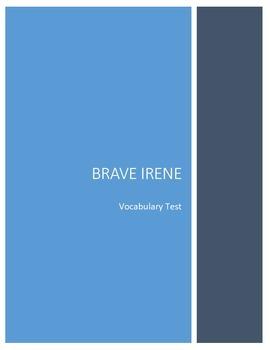Brave Irene Vocabulary Test