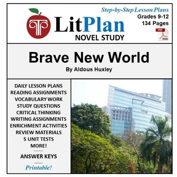 Brave New World: LitPlan Teacher Guide - Lesson Plans, Que