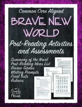 Brave New World Post-Reading Activities and Assessment