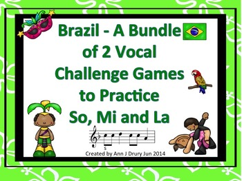 Brazil - A Bundle of 2 Vocal Challenge Games to Practice S