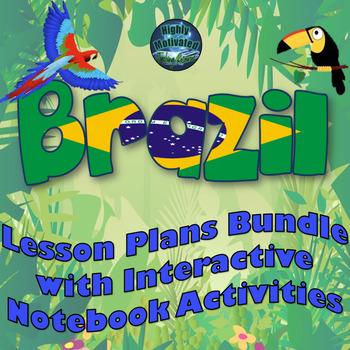 Brazil Lesson Plans and Interactive Notebook MEGA Bundle