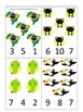 Brazil themed Count and Clip preschool math cards.  Daycar