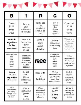 Break Bingo! Ideas for keeping minds sharp over break