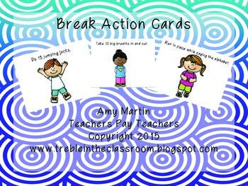 Break Card Quarter Sheets