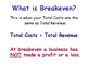Break Even Analysis - Calculations, Theory & Graphs - Busi