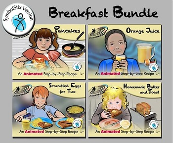 Breakfast Bundle - Animated Step-by-Step Recipes SymbolStix