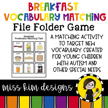 Breakfast Vocabulary Folder Game for students with Autism