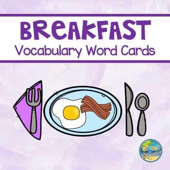 Breakfast Vocabulary Word Cards