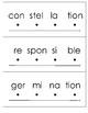 Breaking Apart Multi-Syllable Words