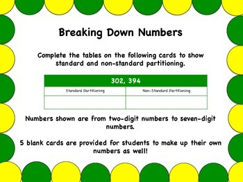 Breaking Down Numbers: Standard and Non-Standard Partition