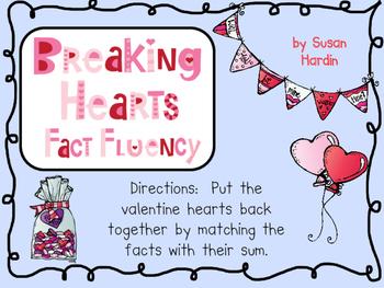 Breaking Hearts Math Fact Fluency