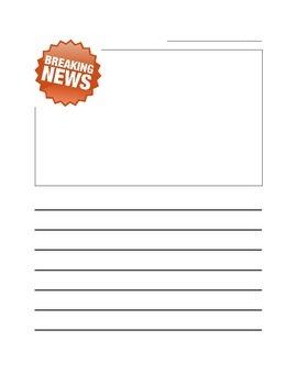Breaking News Writing Paper