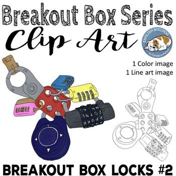 Breakout Box Locks Clip Art #2