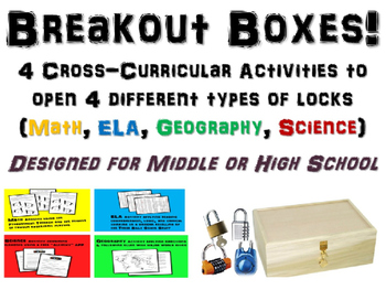 Breakout Boxes! Cross-curricular brain exercises for Middl