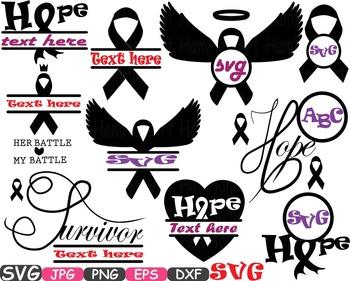 Breast Cancer awareness SVG clip art swirl Cutting ribbon
