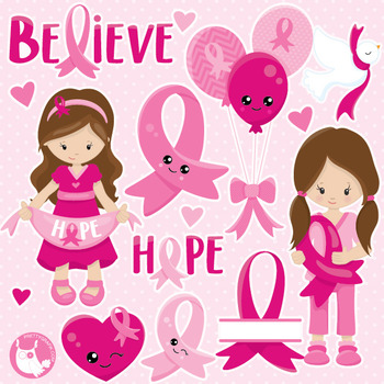 Breast cancer clipart commercial use, vector graphics, dig