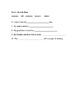 Bremen Town Musicians Vocabulary Assessment