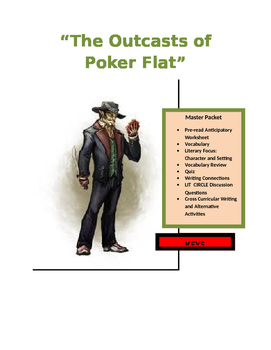 "Bret Harte ~ ""The Outcasts of Poker Flat"" COMMON CORE MAST"