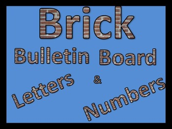 Brick Pattered Bulletin Board Letters and Numbers with ? !