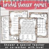 Bridal Shower Games for Teachers! Bridal Bingo & More!
