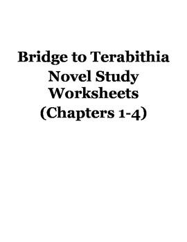 Bridge To Terabithia Novel Study Worksheets (Chapters 1-4)