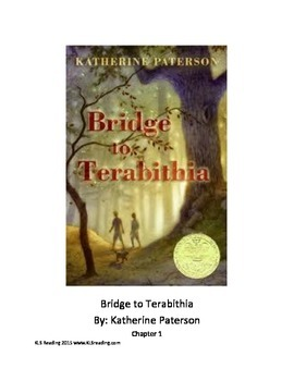 Bridge to Terabithia Adapted Book with review questions PD