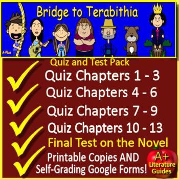 Bridge to Terabithia Novel Study Test Bundle Common Core Aligned