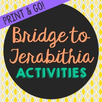 Bridge to Terabithia Novel Study Activities, Book Report,