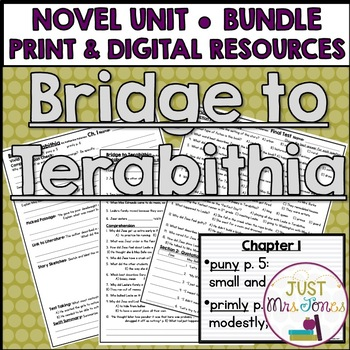 Bridge to Terabithia Novel Unit