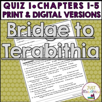 Bridge to Terabithia Quiz 1 (Ch. 1-4)