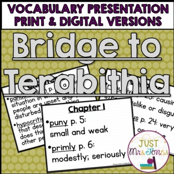 Bridge to Terabithia Vocabulary Presentation