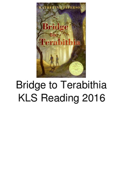 Bridge to Terabithia - adapted book picture supported text