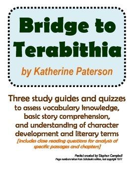 Bridge to Terabithia vocabulary and comprehension assessme